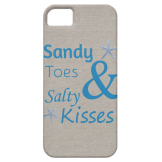 Sandy Toes and Salty Kisses Beach Life Quote iPhone 5 Cases