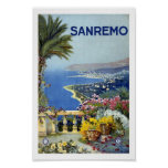 Sanremo Italy Europe Vintage Travel Poster