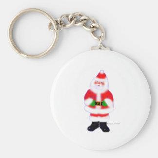 Santa Claus Basic Round Button Key Ring