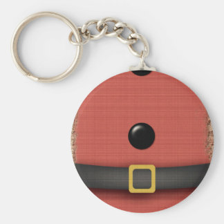 santa claus suit with belt buttons basic round button key ring