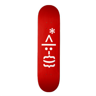 Santa Claus with Beard Christmas Smiley Emoticon 20.6 Cm Skateboard Deck