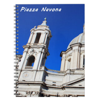 Santagnese in Agone Church in Piazza Navona, Rome Note Book