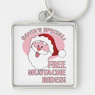 Santa's Mustache Rides key chain