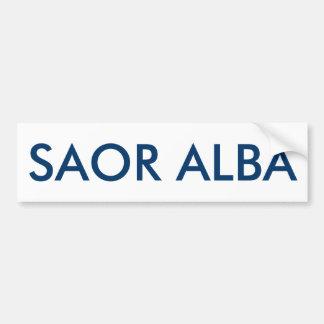 Saor Alba Gaelic Free Scotland Bumper Sticker