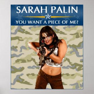 Sarah Palin - You Want A Piece Of Me? Poster