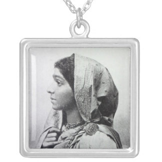 Sarojini Naidu Square Pendant Necklace