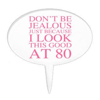 Sassy 80th Birthday For Women Cake Topper