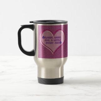 Sassy Heart Stainless Steel Travel Mug