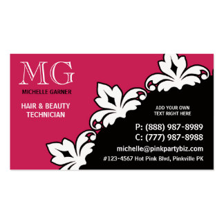 Sassy Stylish Chic Hot PINK Ladies Fashion Pack Of Standard Business Cards