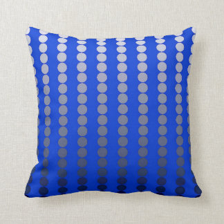 Satin dots - cobalt blue and pewter throw cushions