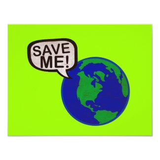 Save Me - Earth 11 Cm X 14 Cm Invitation Card