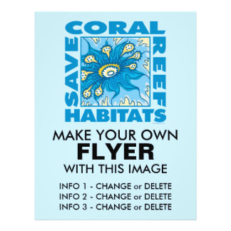 Save Our Coral Reefs 21.5 Cm X 28 Cm Flyer