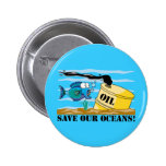 Save Our Oceans Earth Day 6 Cm Round Badge
