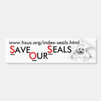 Save Our Seals Bumper Sticker