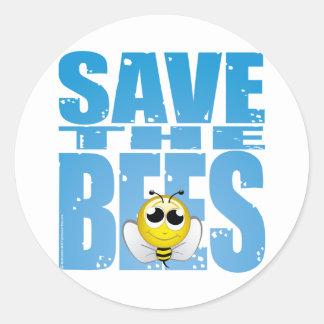 Save the Bees Round Sticker