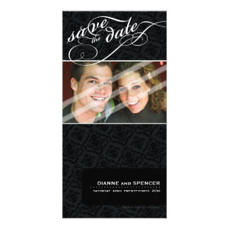 SAVE THE DATE ANNOUNCEMENT :: fancy text 7 Picture Card