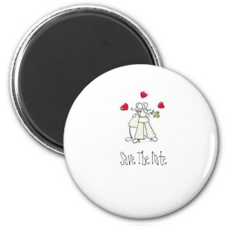 Save the Date Cute wedding magnets Personalised