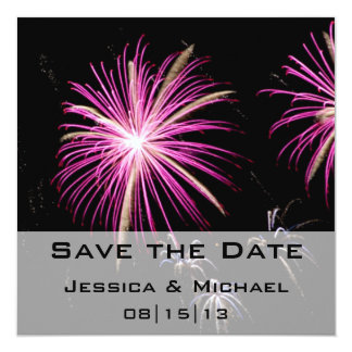 Save the Date Fireworks Announcement