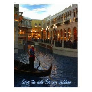 Save the Date Las Vegas Wedding Plans Postcard