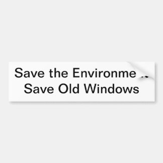 Save the Environment Bumper Sticker