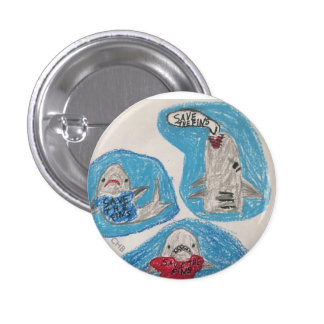 Save the Fins 3 Cm Round Badge