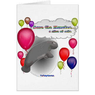 Save the Manatee.. a slice of cake Greeting Card