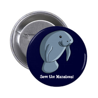 Save the Manatees! 6 Cm Round Badge