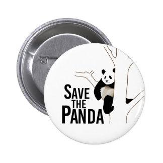 Save the Panda Bear 6 Cm Round Badge