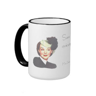SAVE TIME by POLLY ESTER 1940s retro funny mug