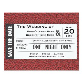 Save your Ticket! 11 Cm X 14 Cm Invitation Card