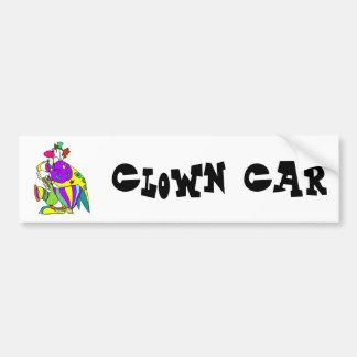 Sax Playing Clown Bumper Sticker