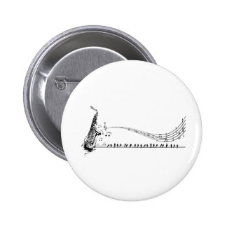 Saxophone Music 6 Cm Round Badge