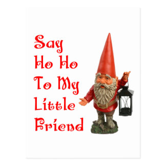 Say Ho Ho To My Little Friend Santa Christmas Postcard
