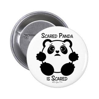 Scared Panda 6 Cm Round Badge