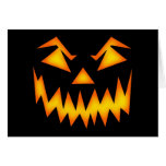 Scary Halloween Smile Greeting Card