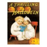Scary Halloween Stories Vintage Postcard