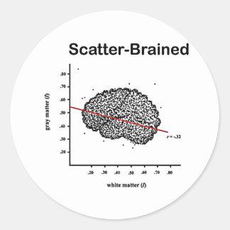 Scatter-Brained Round Sticker