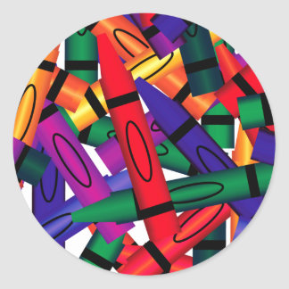 Scattered Crayons Sticker