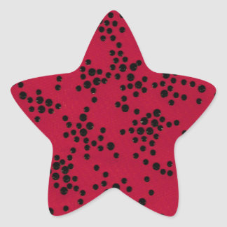 Scattered Dots Star Sticker