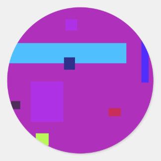 Scattered Purple Round Sticker