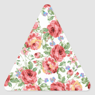 Scattered Roses by BobCatDesign Triangle Sticker