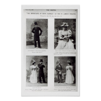 Scenes from The Importance of Being Earnest, by Os Poster