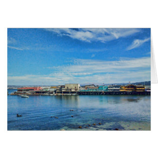 Scenic Monterey Bay at the Wharf Greeting Card