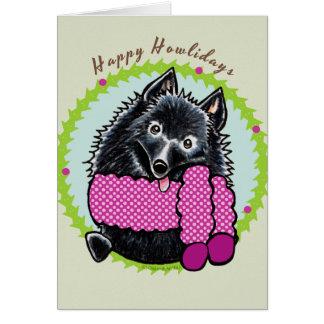 Schipperke Happy Howlidays Greeting Card