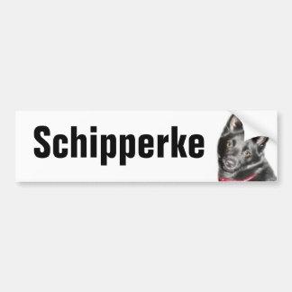 Schipperke Picture Bumper Sticker