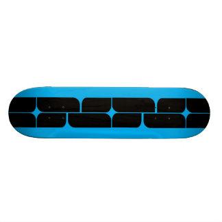 Schizm Ebony (Cyan) Skateboard Deck