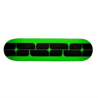 Schizm Ebony (Lime) Skateboard Deck