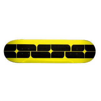 Schizm Ebony (Yellow) Skateboard Deck