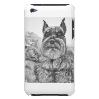 Schnauzer Drawing two Barely There iPod Cover