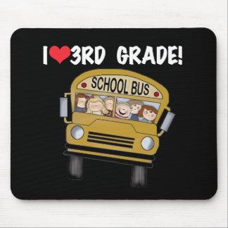 School Bus Love 3rd Grade Mouse Pad